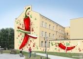 Zwycięski mural.