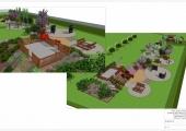 Wizualizacje ogródków przy PS nr 24.