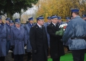 Uroczyste odsłonięcie nagrobka nadinspektora Wardęskiego.