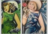 Teresa Janocha Tamara Lempicka Mloda dziewczyna w zielonej sukni online